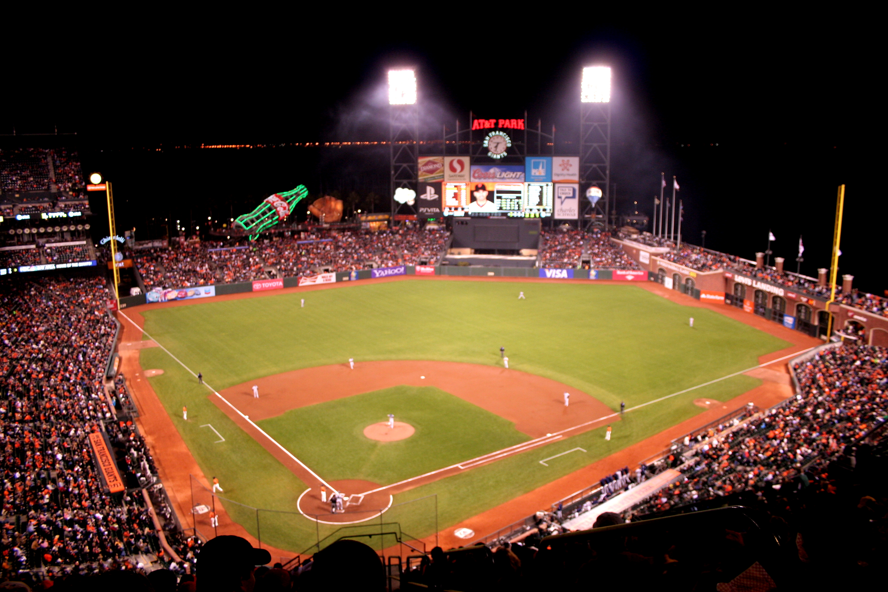 The San Francisco Giants play the San Diego Padres at AT&T Park.