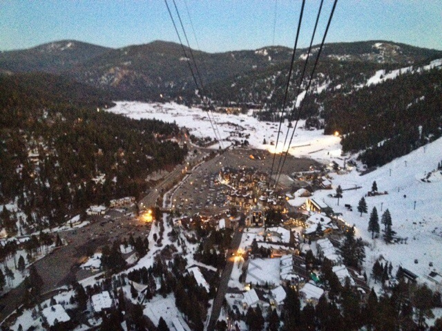 Squaw Valley tram, Squaw Valley High Camp, Lake Tahoe Winter