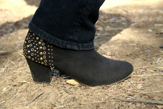 Forever 21 Studded Booties at Lake Berryessa-001