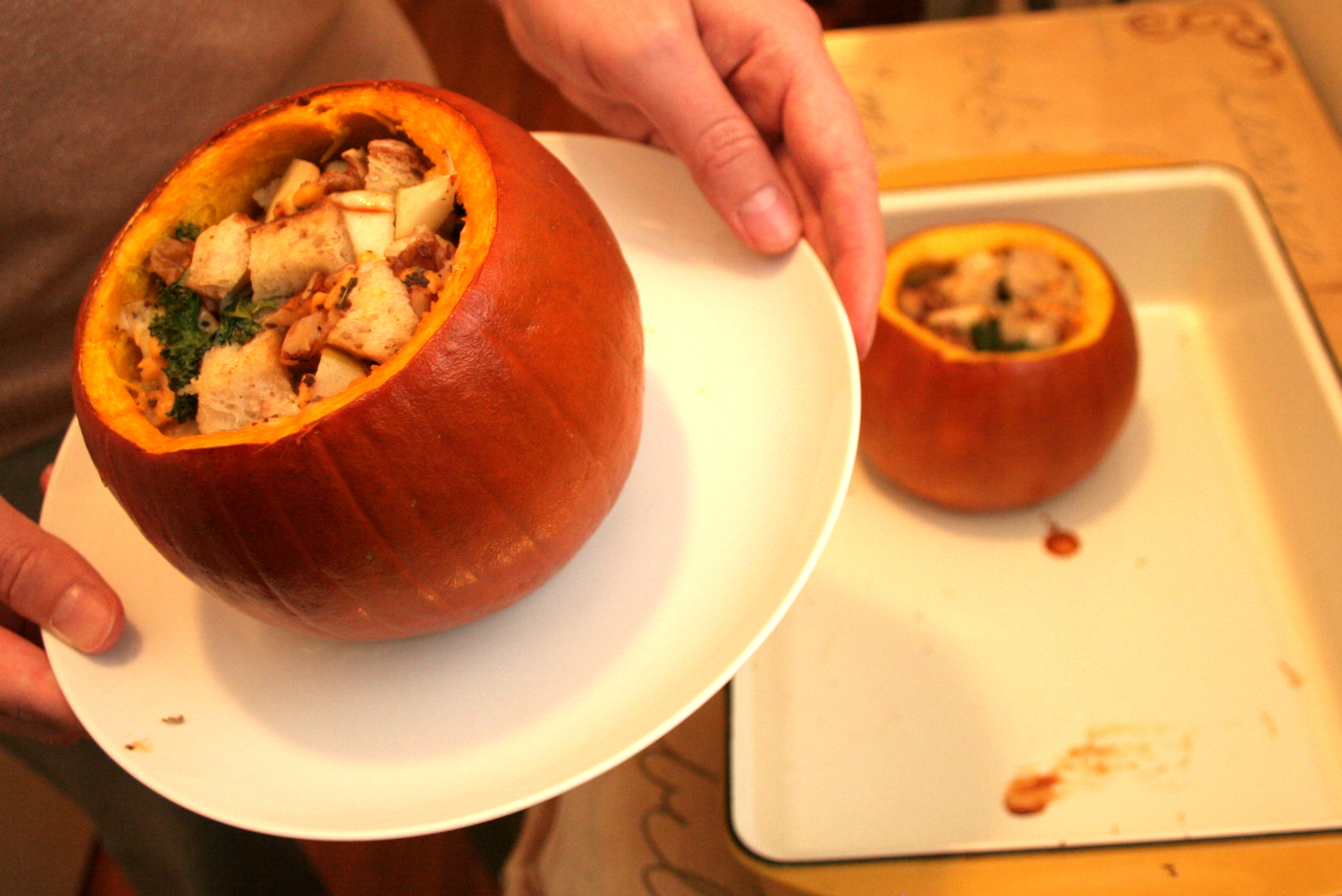 Baked Stuffed Pumpkins