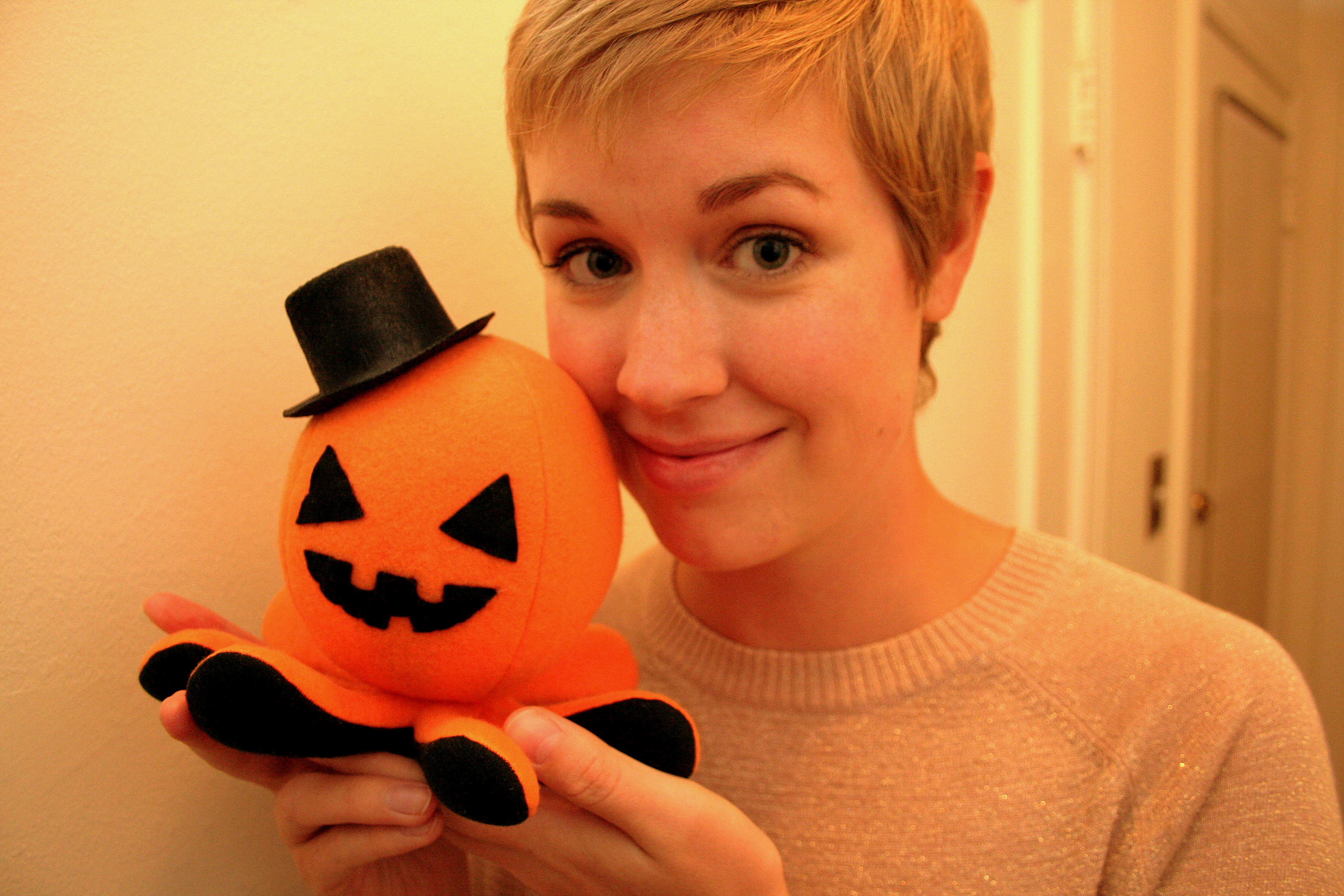 Sarah with the Octopumpkin