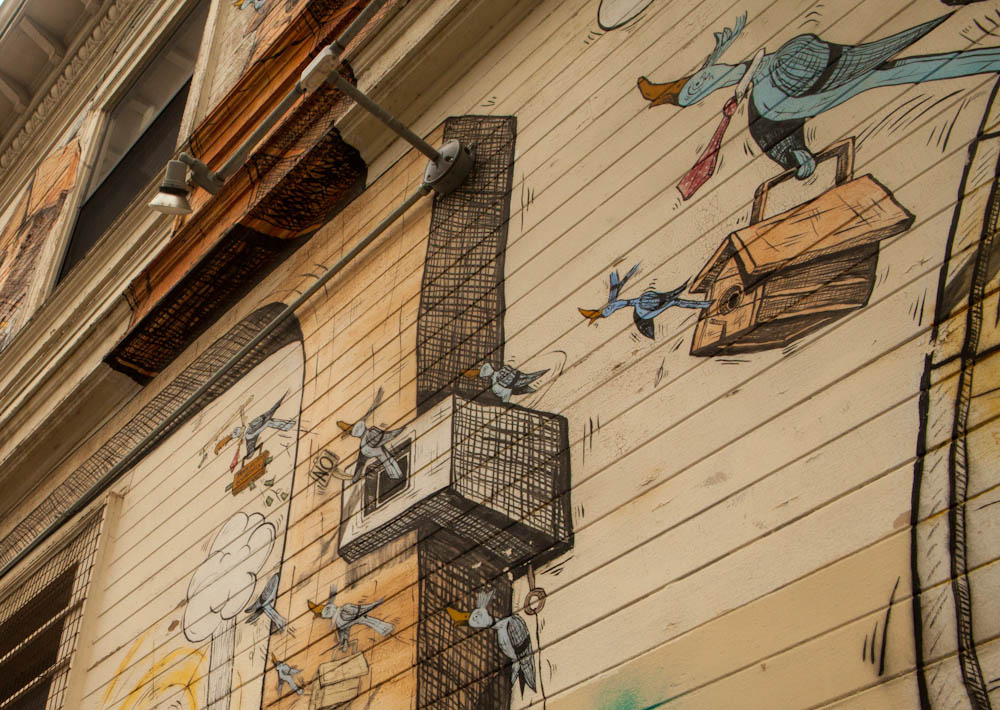 Mission mural, Mission birdhouse mural