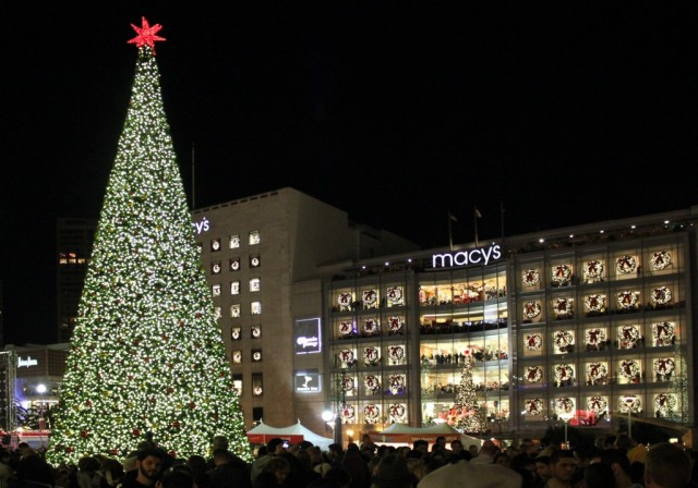 Macy's Union Square holiday, Union Square Christmas tree, San Francisco holiday events, Bay Area holiday events, San Francisco Christmas events